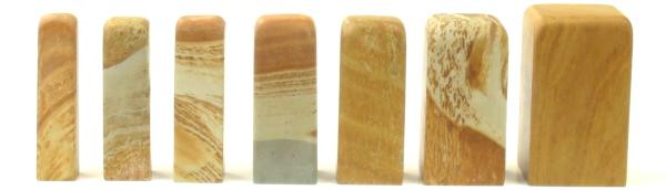 篆刻石印材木目石