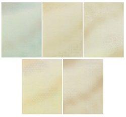 画像1: 仮名料紙 雁皮紙 かほり 半紙判 50枚 (5柄・各10枚)