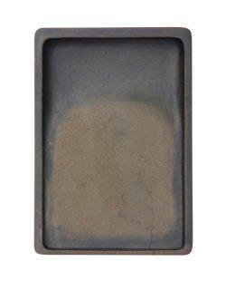 画像1: 澄泥硯 長方型 ぜん魚黄 6吋